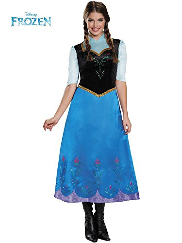 Disguise Women's Anna Traveling Deluxe Adult Costume, Multi, Large