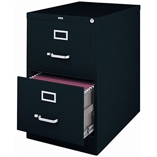 Pemberly Row 2 Drawer Legal File Cabinet in Black PR-436132