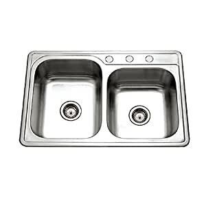 topmount kitchen sinks houzer isl 3322bs3 1 glowtone series topmount stainless 2867