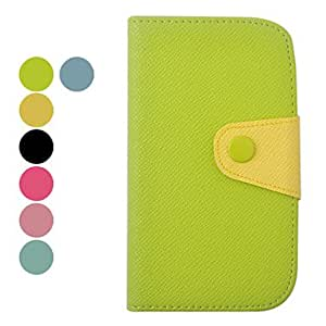 Color Matching Leather Full Body Case for Samsung I9300(Assorted Colors) --- COLOR:Yellow