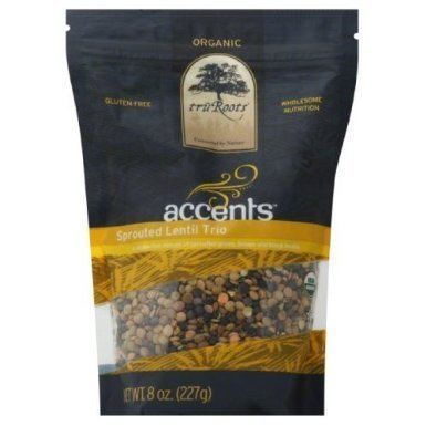 Truroots Organic Accents Sprouted Lentil Trio, 8 Ounce -- 6 per case. by truRoots