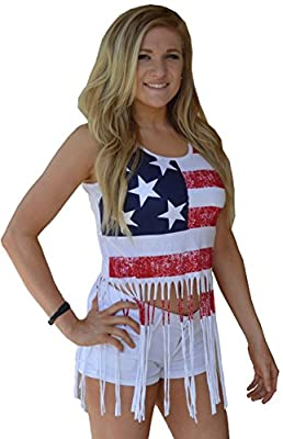 Sunward Women's Tank Top USA Flag Print