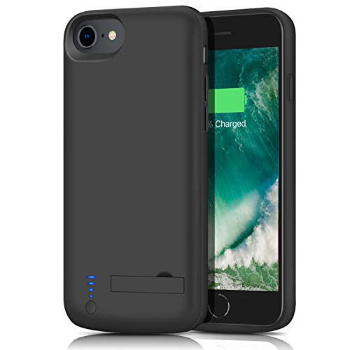 iPhone 8/7 Battery Case, 5500mAh Protective Portable Charger Case External Battery Pack for Apple iPhone 8/7 Rechargeable Backup Charging Case Battery Power Bank (4.7 inch) (Black)