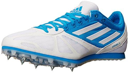 adidas Performance Women's Arriba 4 W Running Shoe, Ftwr White/Running White/Solar Blue S, 7.5 M US