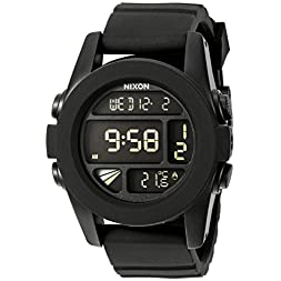 Nixon Men's A197-195 Silicone with Grey Dial Watch