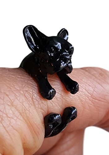 (Pashal French Bulldog Terrier Dog Adjustable 3D Wrap Ring)