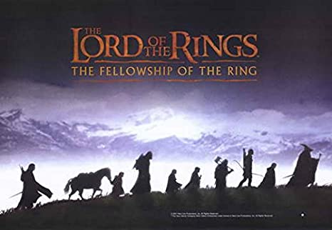B The Fellowship of the Ring Movie POSTER 11 x 17 Lord of the Rings 1