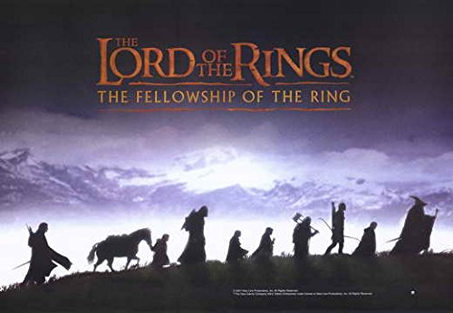 Ring Fellowship The Poster Of Movie - Lord of the Rings 1: The Fellowship of the Ring POSTER Movie (11 x 17 Inches - 28cm x 44cm) (2001) (Style I)