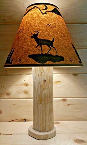 DEER Rustic Log Lamp Authentic Western Red Cedar with FREE 12