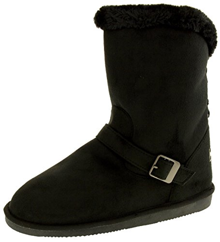 Red Rock Damen Faux Wildleder Winterstiefel Schwarz EU 39