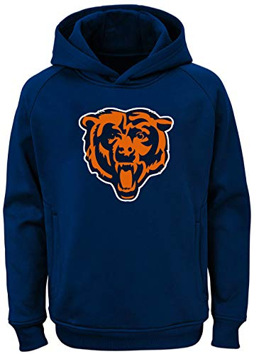 Outerstuff NFL Youth Team Color Performance Primary Logo Pullover Sweatshirt Hoodie (Medium 10/12, Chicago Bears Navy) ()