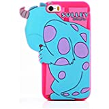 3D Hide and Seek Cute Cartoon Monster University Cheshire Cat Alien Chip & Dale Soft Silicon Case Back Cover for Apple iPhone6/6s (Sulley)