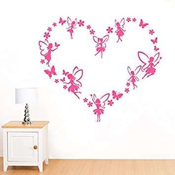 Heart Of Fairies, Flowers U0026 Butterflies Wall Sticker   Art Vinyl Decal  Stickers, Bedroom Part 39