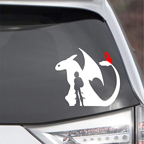 POPCultureSigns How to Train Your Dragon Toothless Hiccup Vinyl Decal Sticker Car Laptop Wall - Vinyl Dragon