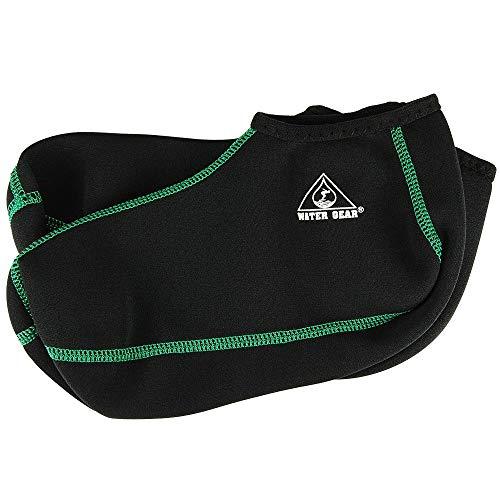 Water Gear Fin Socks, XLarge (Green Stitching)