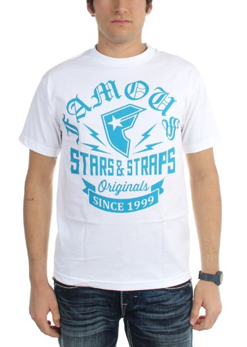 Famous Stars and Straps Men's Originals T-Shirt, White/Teal, Medium]()
