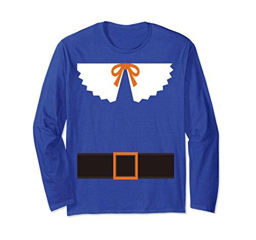 Pilgrim Outfit T-shirt Belt Collar Thanksgiving Long Sleeve
