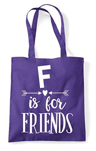 Purple F Statement Friend Is Tote Best Bag Matching For Friends Shopper Bff gSqgrOwP