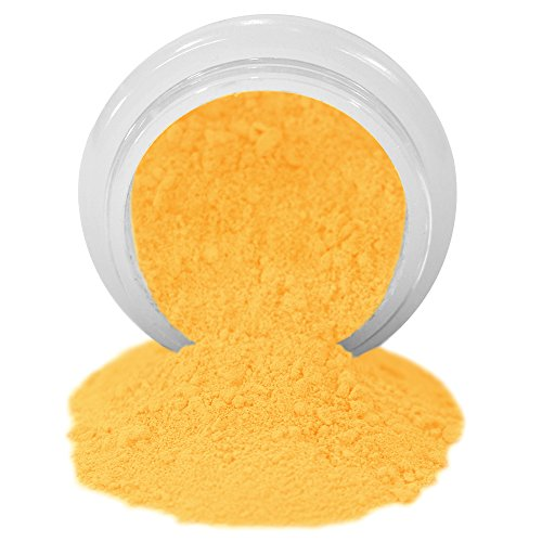 ColorPops by First Impressions Molds Matte Yellow 15 Edible Powder Food Color For Cake Decorating, Baking, and Gumpaste Flowers 10 gr/vol single jar