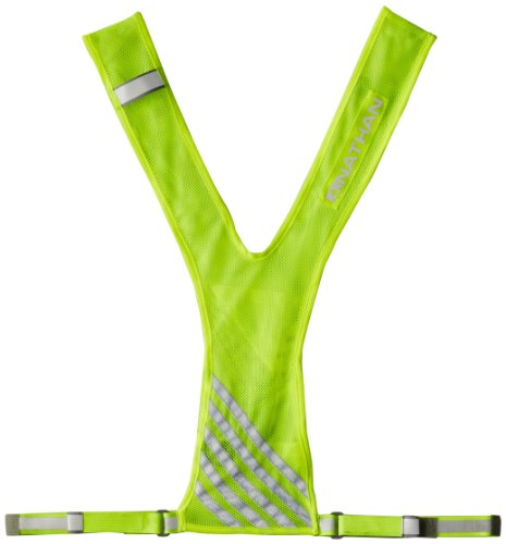 NATHAN Bandolier Reflective Vest, Safety Yellow, One Size