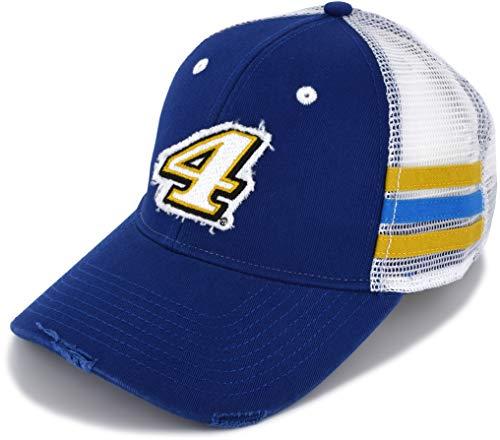 Finish Pack Fan (Kudzu Kevin Harvick 2019 Finish Line Mesh #4 NASCAR Hat Blue, White)