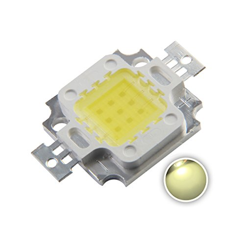 Chanzon High Power Led Chip 10W Natural White (4000K-4500K/900mA/DC 9V-11V/10 Watt) Super Bright Intensity SMD COB Light Emitter Components Diode 10 W Bulb Lamp Beads DIY Lighting