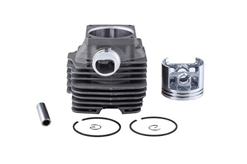 Savior 52mm Cylinder Head Piston Rebuild Kit Ring Pin Clips Assembly for Stihl Ms380 038 Ms 380 Chainsaw Replace 1119 020 1202 11190201204