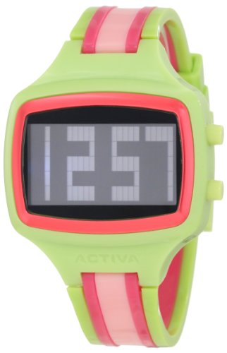 Activa By Invicta Unisex AA401-014 Watch with Pink, Green, and Red Band