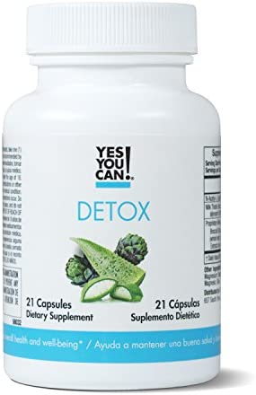 Yes You Can! Detox - 7 Day Quick Cleanse to Support Detox, Reach Ideal Weigh & Increase Energy Levels, Contains Aloe Vera, Broccoli Extract, N-Acetyl L-Cysteine - Adelgazar y Dieta - 21 Capsules 3