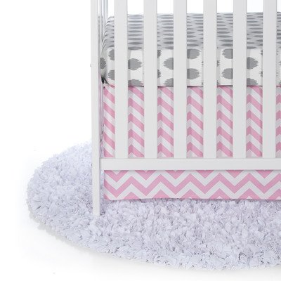 Swizzle Pink 2 Piece Crib Bedding Set