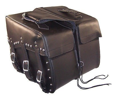 Saddlebags for harley davidson dyna wide glide Cowhide Genuine Leather by IND STURGIS (Image #1)'