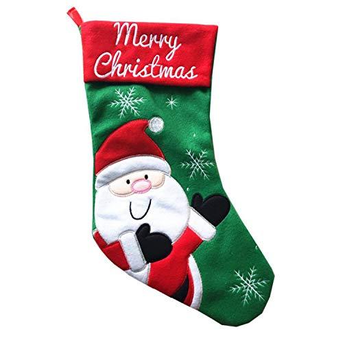 Mydufish Hot Bag Socks Santa Claus Stocking Christmas Party Candy Bags DR for $<!--$9.99-->