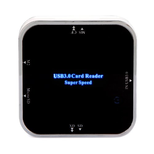 Kingzer All in 1 USB 3.0 SD Card Reader 5Gbps for Micro SD/TF CF XD MS SD SDHC SDXC M2 from KINGZER