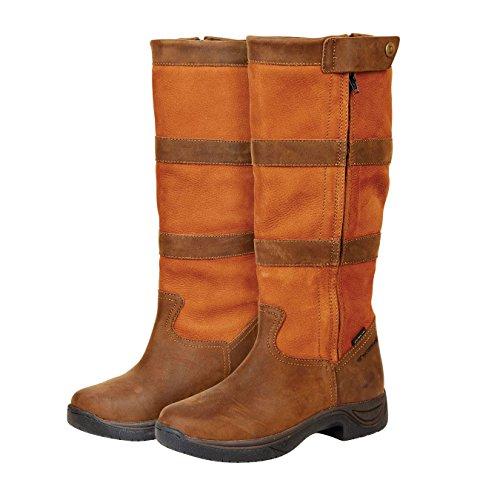 Dublin - Botas de equitación de Piel para mujer Marrón marrón oscuro Marrón - marrón