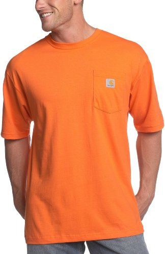 Carhartt Men's 'K87' Workwear Pocket Short-Sleeve T-Shirt, Orange, X-Large (Carhartt Clothes)