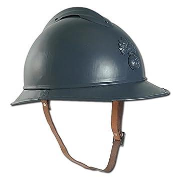 Miltec Adrian 16689700 - Reproducción de casco militar francés de poilu de metal, color gris: Amazon.es: Deportes y aire libre