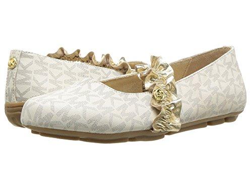 Michael Kors Girl's Rover Reeder Ballet Flat Shoes Vanilla 3C (Jane Michael Kors)