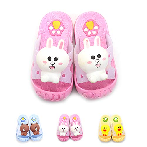 Topgalaxy.Z Kids Summer Sandals Slippers Walking Slippers for Toddler Girls Boys Beach Sandals Shoes Shower Pool Slippers (Little Kid 10-10.5M, Pink Rabbit) -