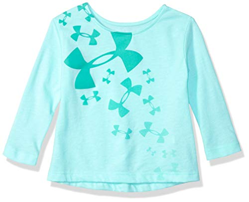 Under Armour Girls' Baby Long Sleeve Graphic Tee, Crystal Multi Logo, 12M (Best Crystals For Babies)