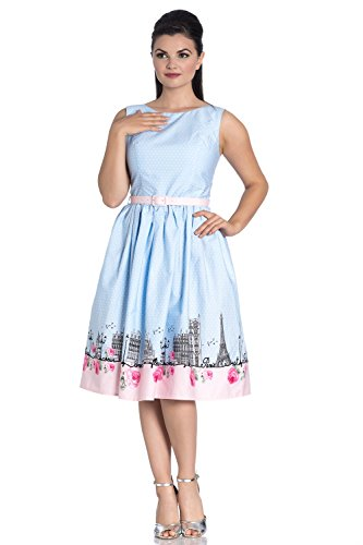 hell bunny blue polka dot dress - 2
