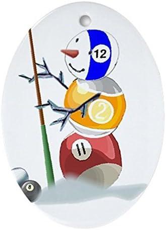 Bola blanca de billar adorno de muñeco de nieve (Oval) – Oval ...