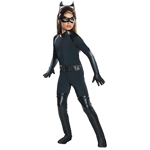 Dark Knight Rises Child Catwoman Costume (Warner Bros. Youth The Dark Knight Rises Deluxe Catwoman Child Costume Small)