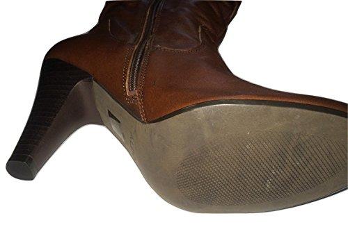 Aldo Dark Brown Pre Rouched Acca Boots F5JDwU