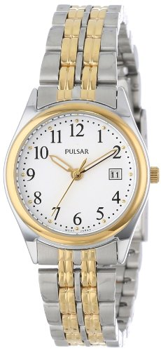 Pulsar Women's PXT588 Dress Two-Tone Stainless Steel Watch