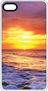 Beach Sunset White Rubber Case for Apple iPhone 5c