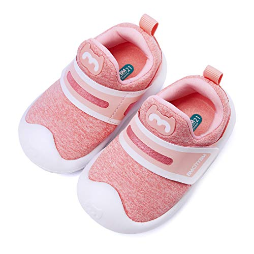 (BMCiTYBM Lightweight Toddler Walking Shoes Wide Sneakers (Girls/Boys/Kids) Pink)