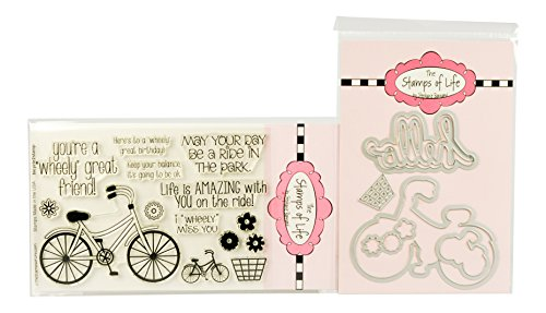 The Stamps of Life Clear Stamps & Dies, bicycle2stamp with Bicycle dies