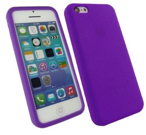 Emartbuy® Apple Iphone 5c Silicon Skin Cover / Schutzhülle Lila