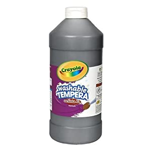 Crayola Washable Tempera Paint, Black Paint, Craft Supplies, 32 Ounce