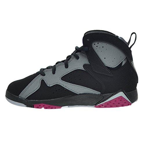 56e46d23ae91d5 Jordan 7 Retro GP Little Kid s Shoes Black Sport Fuchsia Wolf Grey 442961-